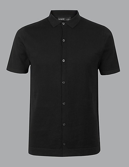 Pure Cotton Slim Fit Knitted Polo