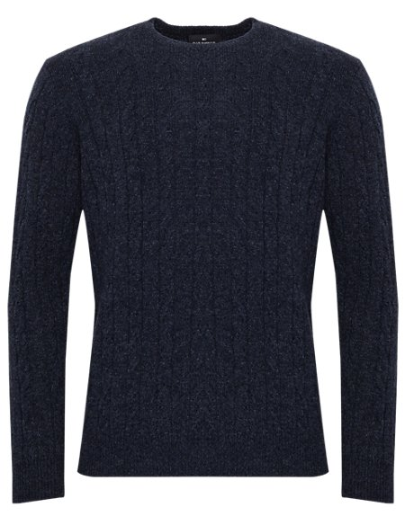 Extrafine Pure Lambswool Twisted Cable Knit Jumper