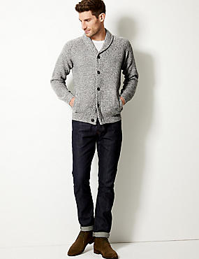 Textured Shawl Cardigan, GREY, catlanding