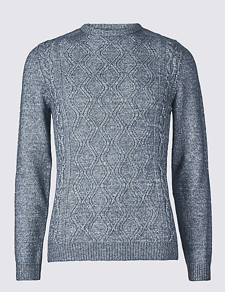 Cotton Rich Cable Knit Jumper