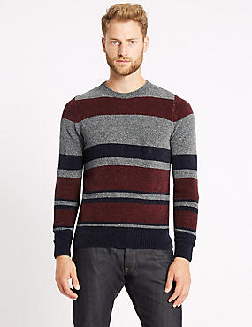 Cotton Blend Chenille Striped Jumper