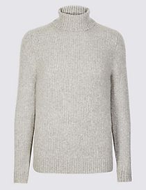 Supersoft Roll Neck Jumper with Wool