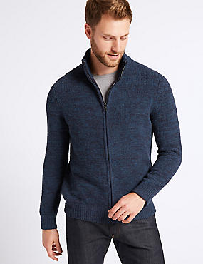 Chenille Zip Through Cardigan