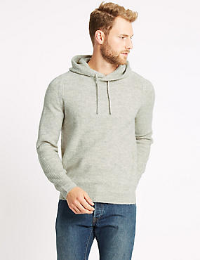 Textured Hooded Jumper