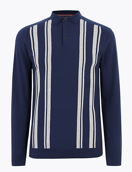 Cotton Rich Knitted Polo Shirt