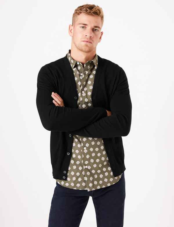 eecde842265553 Mens Cotton Jumpers & Cardigans | M&S