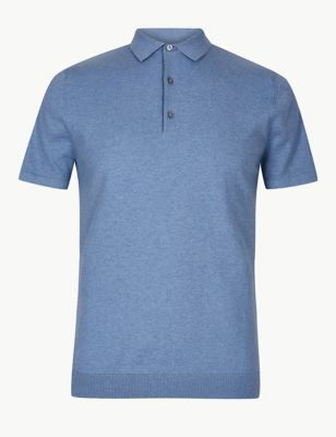 5ff149cacd57 Cotton Rich Knitted Polo £19.50