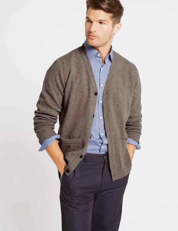 6dba56134f0e Mens Lambswool Jumpers & Cardigans | M&S