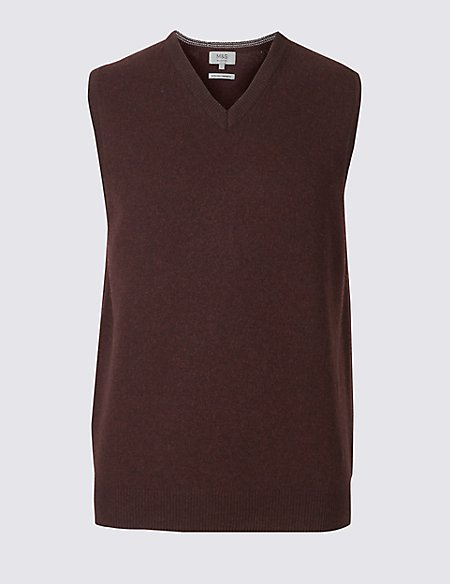 Pure Lambswool Sleeveless Jumper