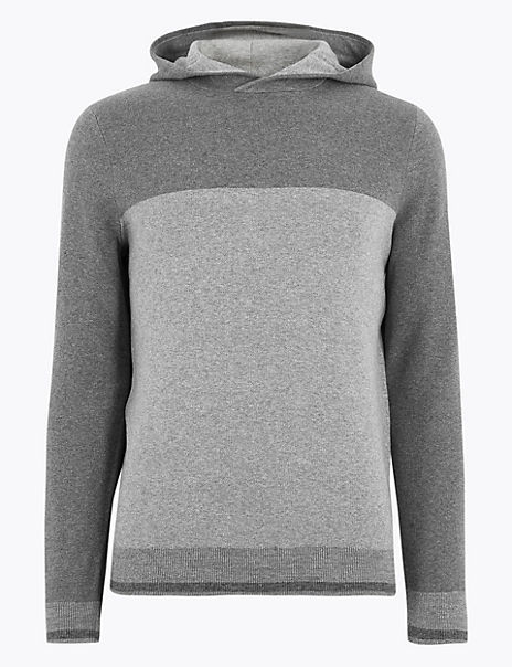 Cotton Knitted Hoodie