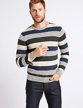 Striped Jumper with Lambswool & Alpaca