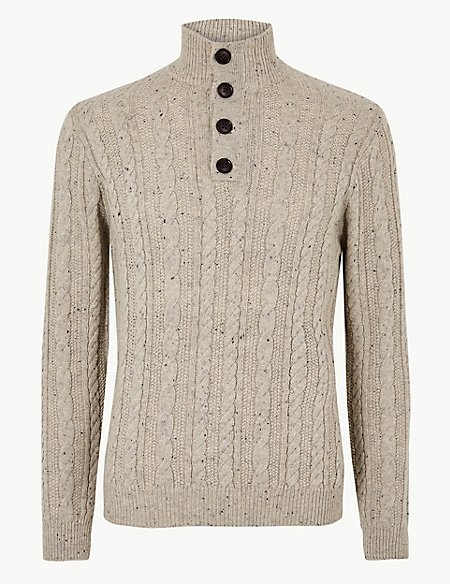 Cable Knit Jumper with Wool