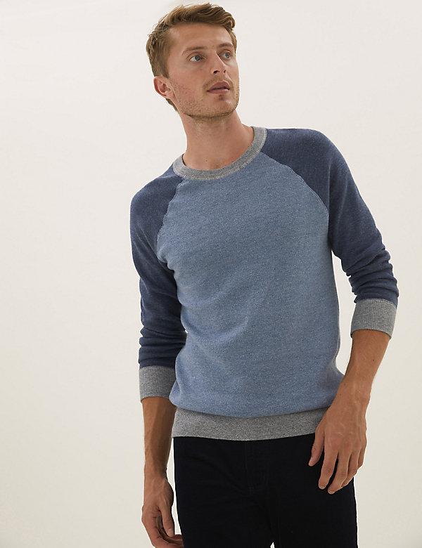 Pull en maille 100% coton à col rond