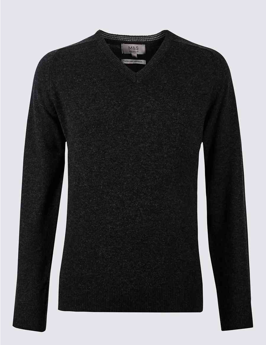 2792a353f Pure Extra Fine Lambswool V-Neck Jumper