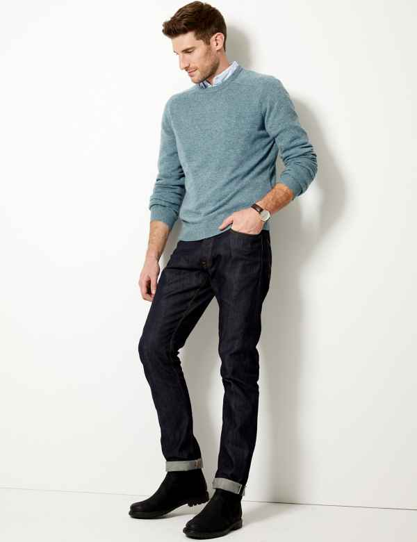 9f35a0cf516 Pure Extra Fine Lambswool Crew Neck Jumper