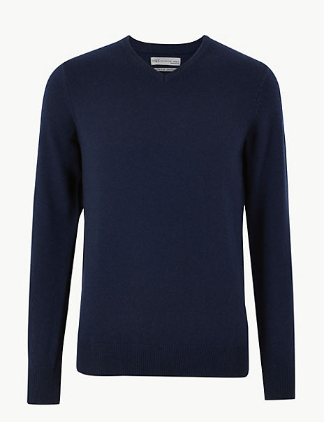 Extra Fine Lambswool V-Neck Jumper