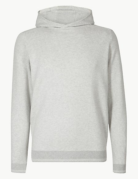Pure Cotton Knitted Hoody