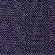 Pure Cotton Cable Jumper, PURPLE MIX, swatch