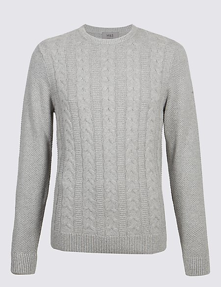 Pure Cotton Cable Knit Jumper