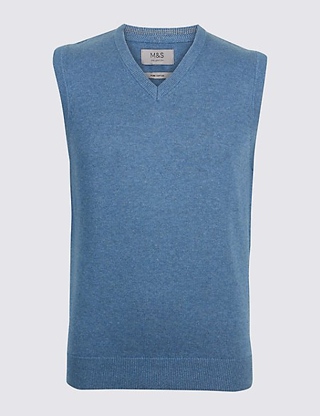 Pure Cotton Sleeveless Jumper