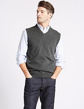Pure Cotton Slipover Jumper, GREY, catlanding