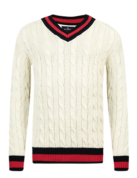 81a776d566e Product images. Skip Carousel. Cable Knit Cricket Jumper