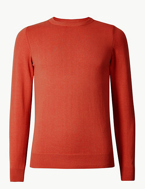 Pure Fine Cotton Crew Neck Jumper