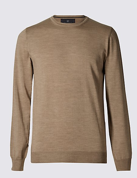 Merino Wool Rich Slim Fit Jumper