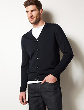 Pure Merino Wool Cardigan