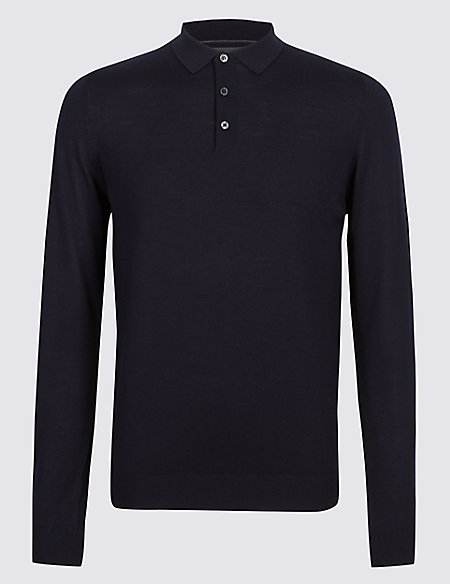 Pure Merino Wool Knitted Polo