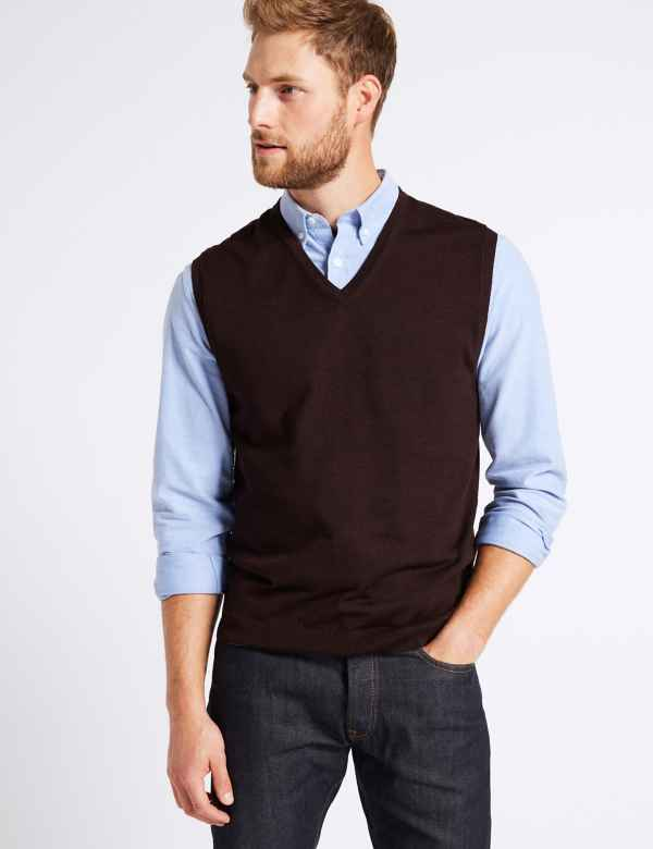 653c0b1a72ffc8 Mens Sleeveless Jumpers   Cardigans