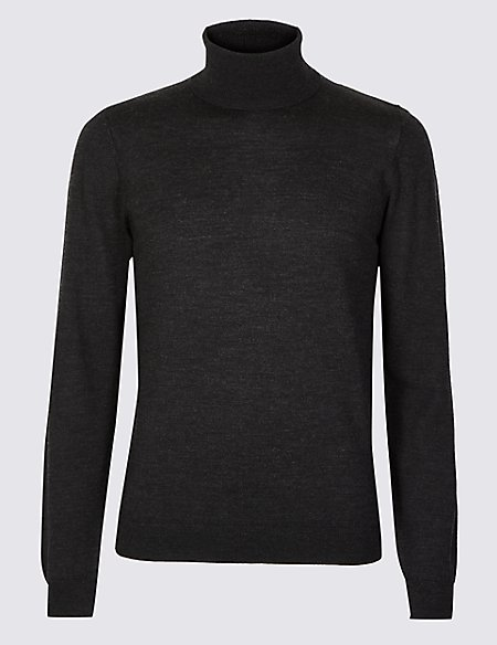 Pure Extra Fine Merino Roll Neck Jumper