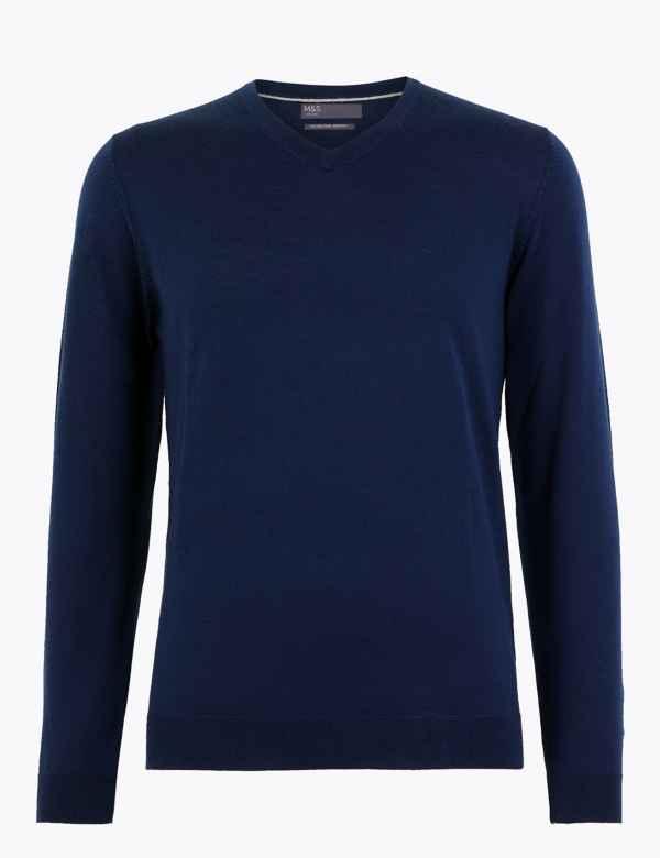 Men's V Neck Knitwear | M&S