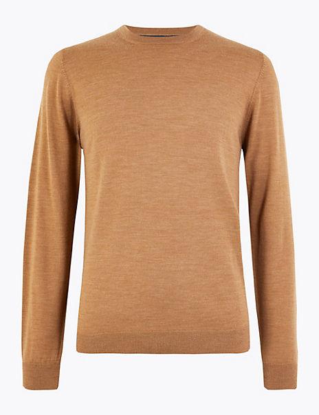 Pure Extra Fine Merino Wool Crew Neck Jumper