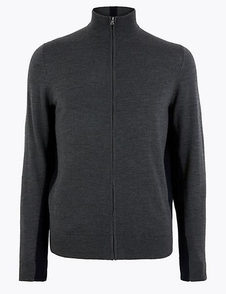 Pure Extra Fine Merino Wool Half Zip
