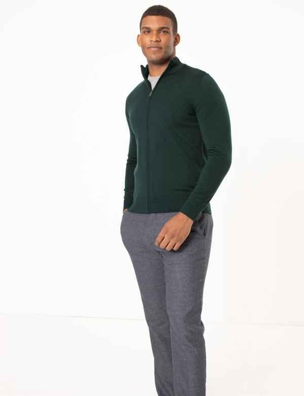 Pure Extra Fine Merino Wool Back Stripe