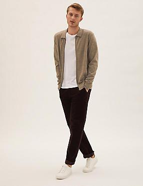 Merino Zip Up Knitted Jacket