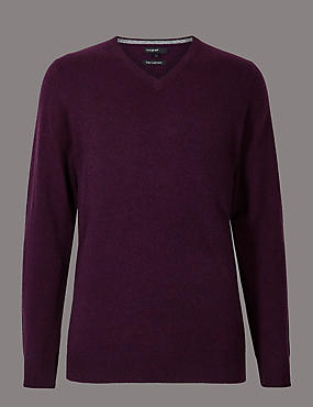 Pure Cashmere V-Neck Jumper