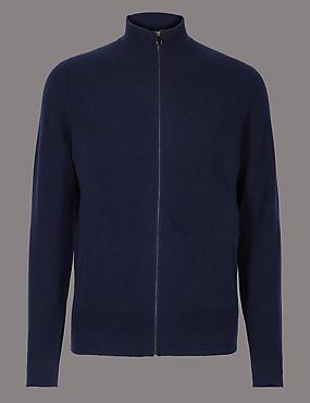Pure Cashmere Textured Cardigan
