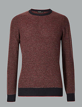 Merino with Cashmere Birdseye Jumper