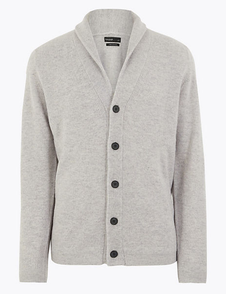 Pure Cashmere Shawl Neck Cardigan