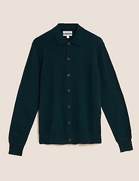 Pure Cashmere Button Through Polo Cardigan