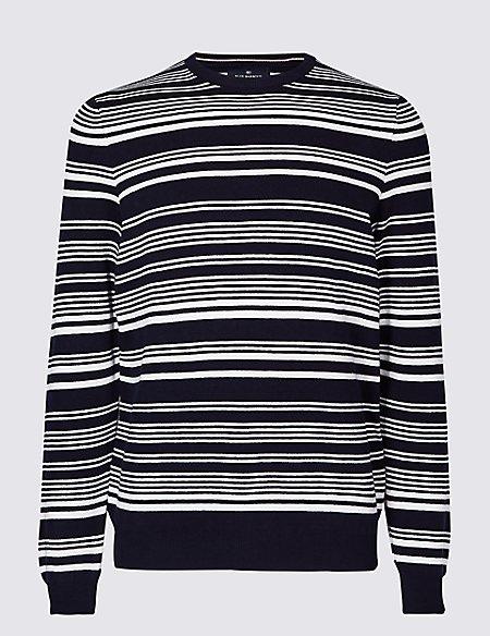 Cotton Cashmere Striped Jumper
