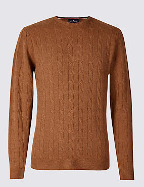 Merino Wool Rich Cable Kit Jumper