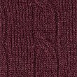 Merino Cable Knit Jumper with Yak, BURGUNDY, swatch