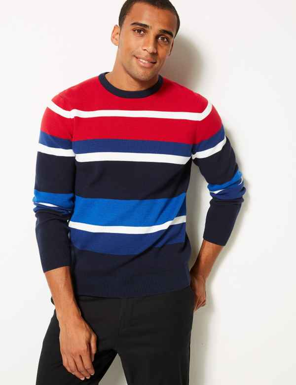 3e8810853cd Pure Cotton Striped Jumper. Big   tall sizes available