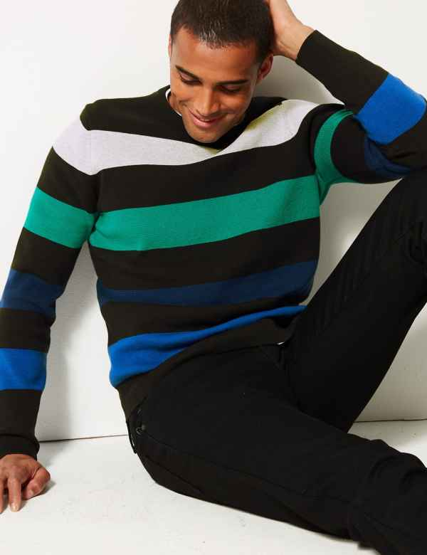 10cca0193 Pure Cotton Striped Jumper