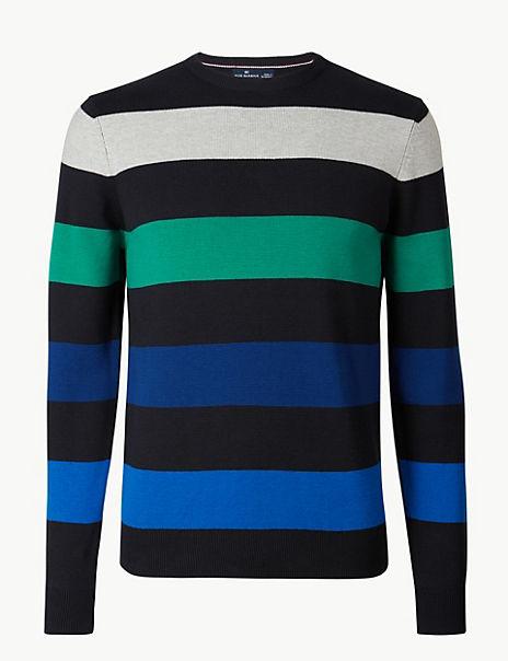 Pure Cotton Striped Jumper