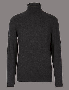 Pure Cashmere Roll Neck Jumper