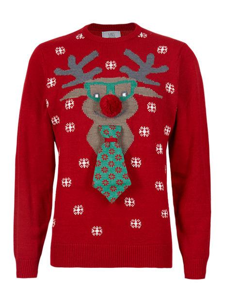 Christmas Moose Head Jumper